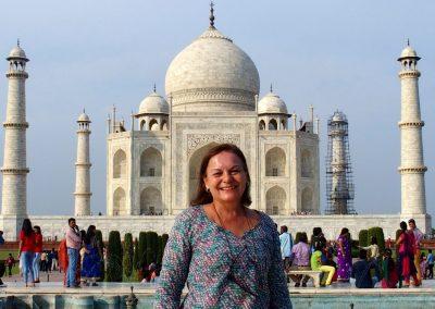 Devant le Taj Mahal Inde