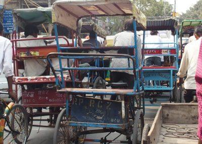Embouteillage New Delhi Inde