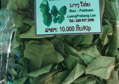 Feuilles de citron Kafir Laos