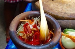 Salade de papaye verte en Thaïlande