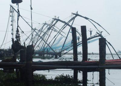 Relève des filets chinois Cochin Inde