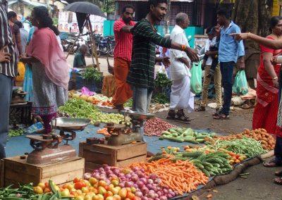 Scène de marché Inde