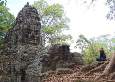 Visage temple Cambodge