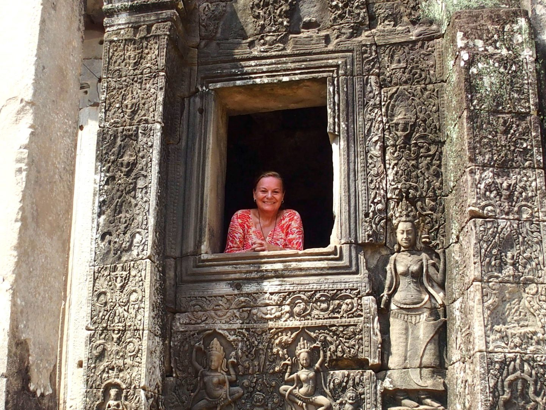 A la fenêtre temples Angkor Bayon Cambodge