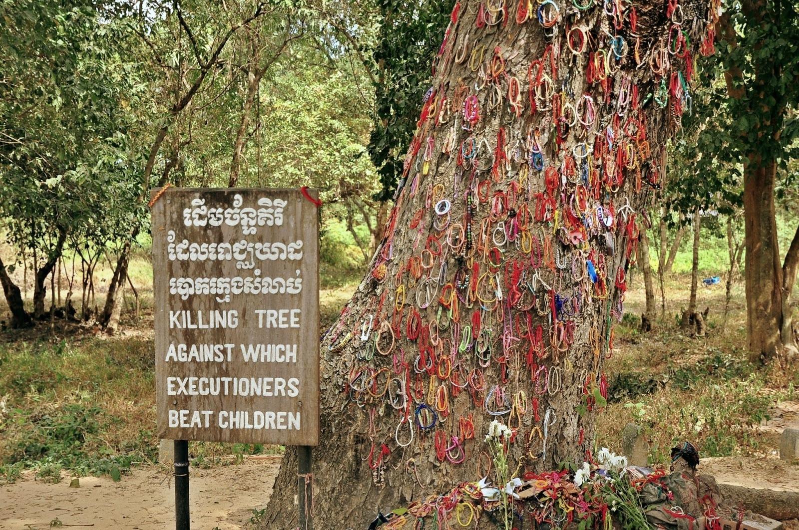 Arbre de mort Musée génocide Cambodge