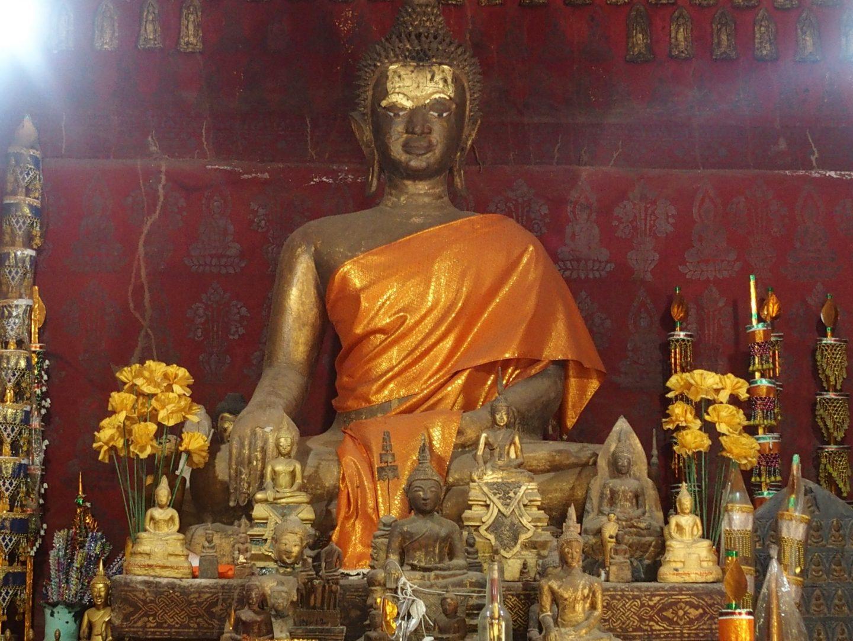 Autel de prière monastère Luang Prabang Laos