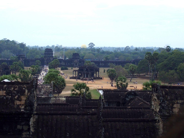 Cour intérieure temples d'Angkor Cambodge