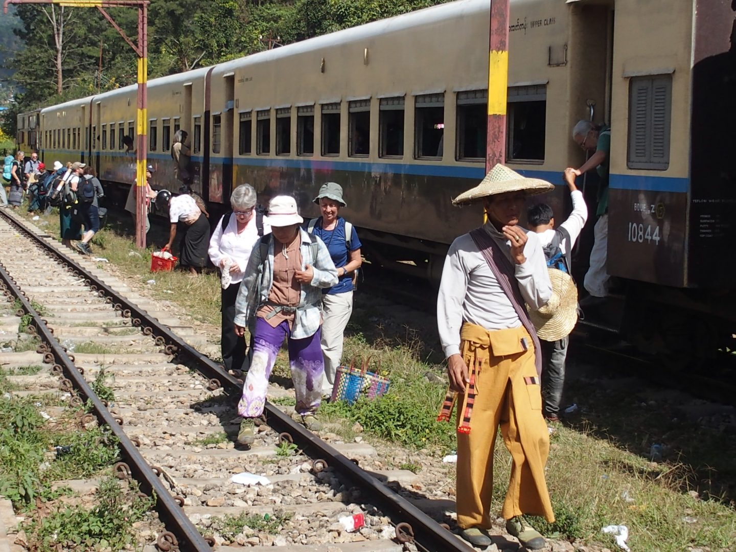 Descente train Kalaw Inle Birmanie