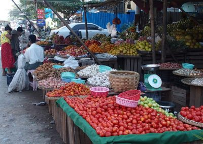 Echoppe légumes marché Birmanie