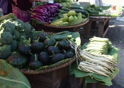 Etal légumes Birmanie