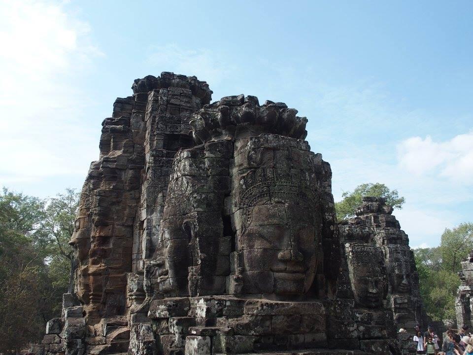 Faces souriantes Temple Bayon Cambodge