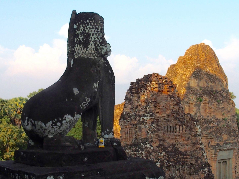 Fin de journée sur temples d'Angkor Cambodge