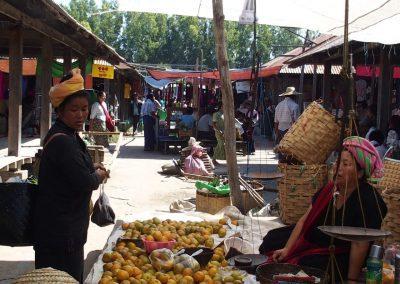 Fruits de marché en Birmanie