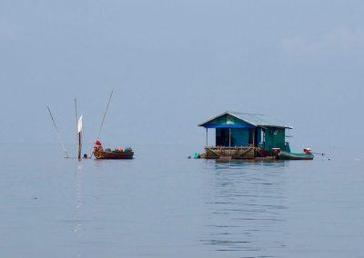 Maisons flottantes Lac Tonle Sap Cambodge