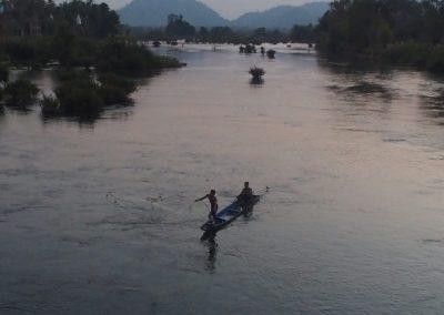 Pêche au filet Don Khone Laos