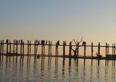 Pont U-Bein soir Birmanie