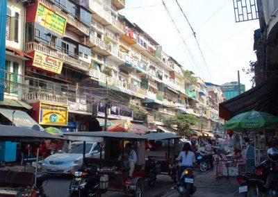 Rues de Phnom Penh Cambodge