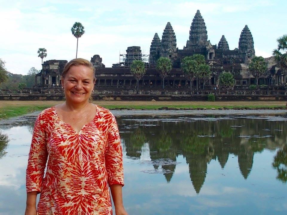 Soirée au temple Angkor Vat Cambodge