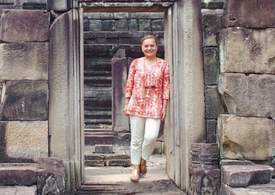 Sur le site d'Angkor Cambodge
