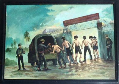 Tableau au Musée du génocide Cambodge