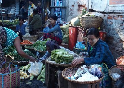 Vie sur un marché Birmanie
