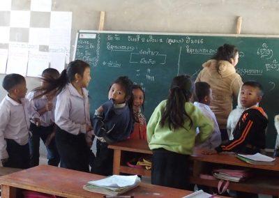 Visite d'une école Laos