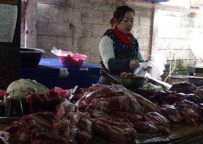 Echoppe de viande Cambodge