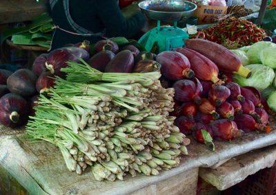 Fleurs de bananier et citronnelle Cambodge