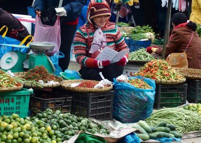 Marchande de légumes Cambodge