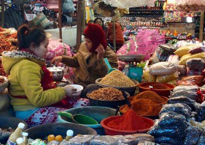 Marché épices Cambodge