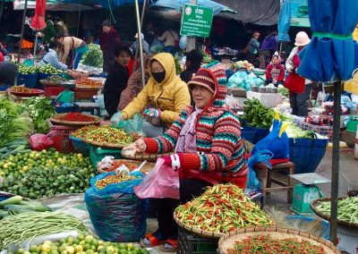Marché légumes Cambodge