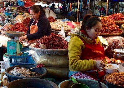 Marché piments Cambodge