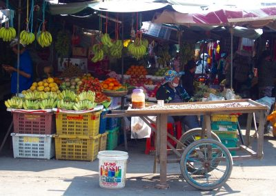 Vendeuse de marchés Cambodge