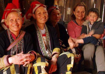 Avec famille Dao Ta Phin Vietnam