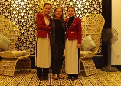 Avec personnel hôtel Riversuite Hoï An Vietnam