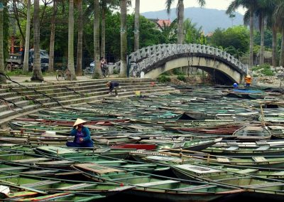 Barques Baie d'Halong terrestre Vietnam