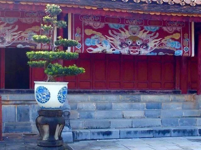 Beauté cour intérieure mausolée Minh Mang Hué Vietnam