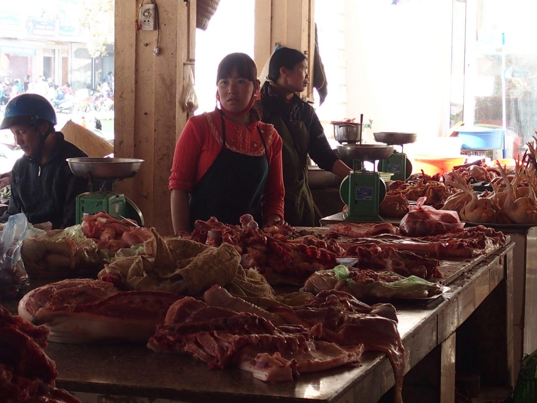 Boucherie marché Sapa Vietnam