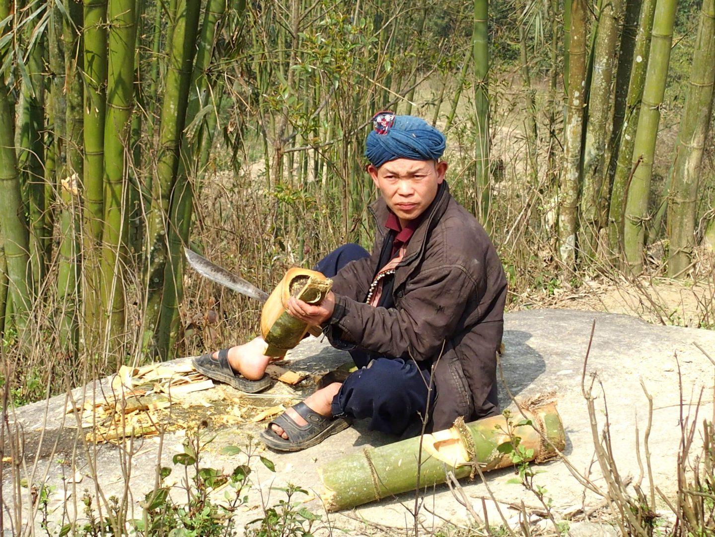 Coupe de bambous Ta Phin Vietnam