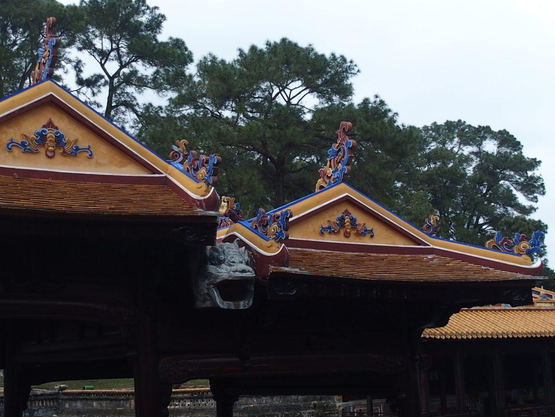 Détail toit pavillon Tu Duc Hué Vietnam