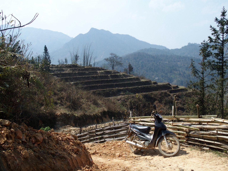 En route sur la moto d'Olivier Ta Phin Vietnam