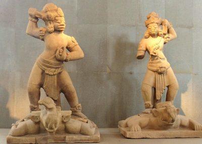 Guerriers art cham musée Danang Vietnam
