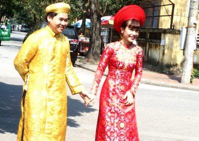 Jeune couple Citadelle Hué Vietnam