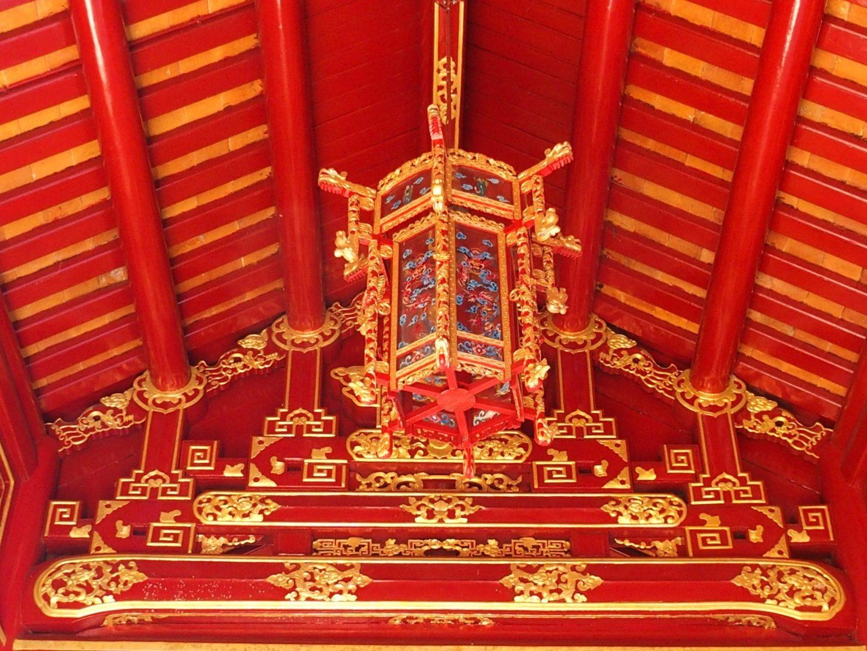 Plafond cité impériale Hué Vietnam