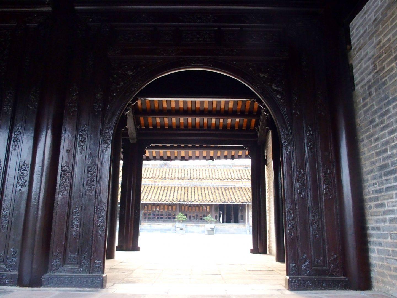 Porte entrée mausolée Minh Mang Hué Vietnam
