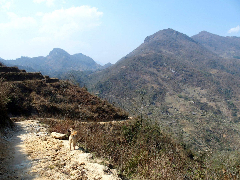 ça grimpe pour aller chez Olivier Ta Phin Vietnam