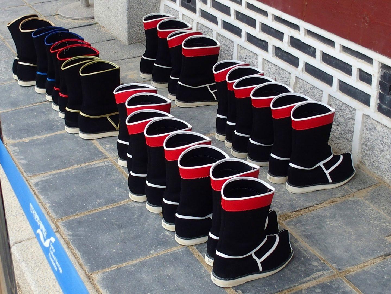 Bottes gardes royaux Seoul Corée du sud