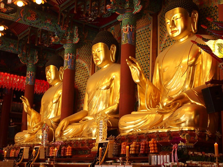 Bouddhas temple Jogyesa Seoul Corée du sud