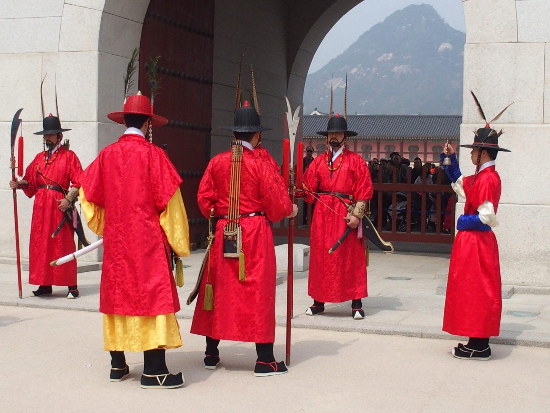 Changement gardes Palais royal Seoul Corée du sud