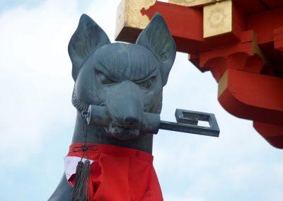 Chien sanctuaire Japon